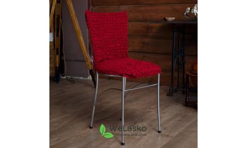 Чехлы на стулья без оборки стрейчевые бордо