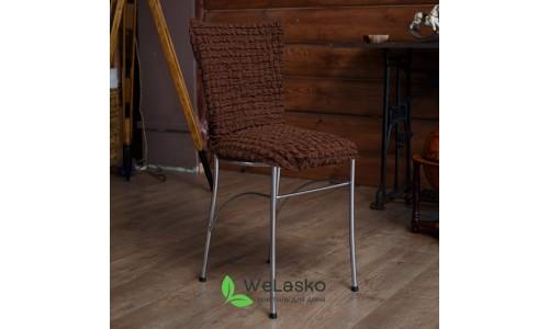 Чехлы на стулья без оборки стрейчевые шоколад