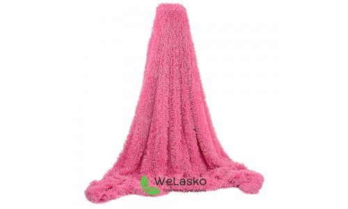 Плед меховой розовый3
